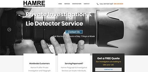 Hamre PI website designed by Symphysis Marketing