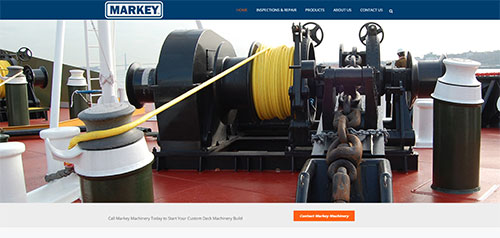 Markey Machinery website designed by Symphysis Marketing