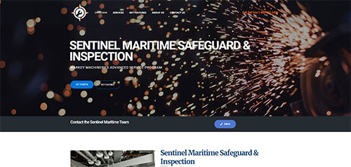 Sentinel Maritime website designed by Symphysis Marketing