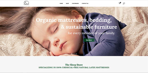 The Sleep Store website designed by Symphysis Marketing